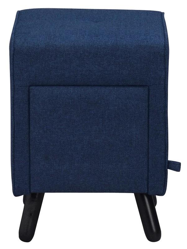N/A – Mali puf - blå m. opbevaringsskuffe - 35x35 på unoliving.com