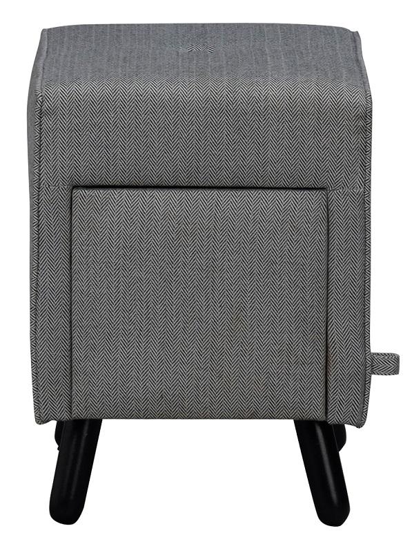 N/A Mali puf - grå m. opbevaringsskuffe - 35x35 fra unoliving.com