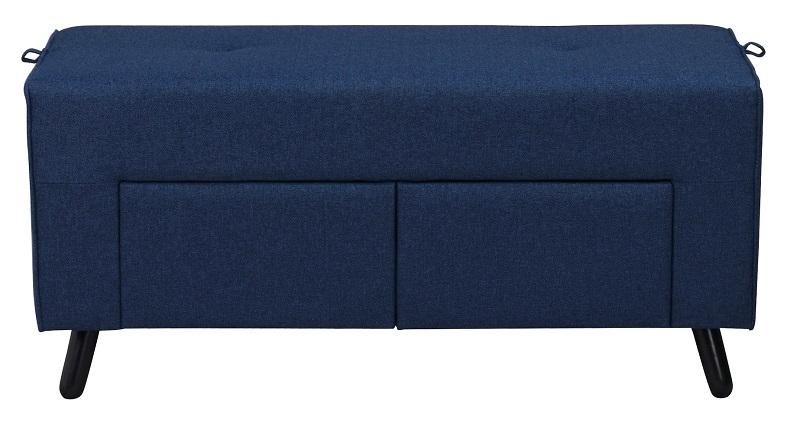 N/A Mali puf - blå m. opbevaringsskuffer - 100x42 på unoliving.com