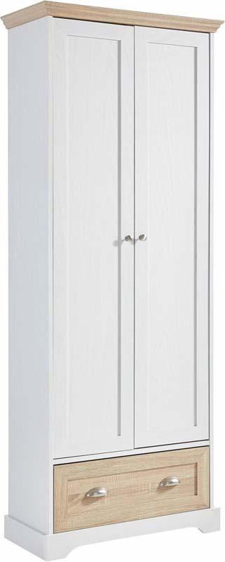 N/A Matilde garderobeskab hvid - ege-look - 180x70 på unoliving.com