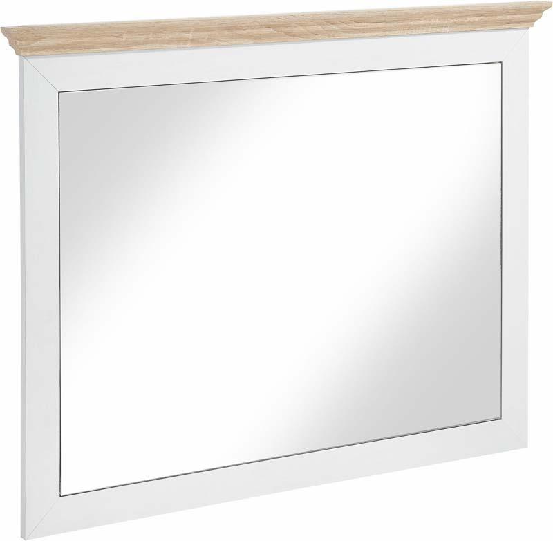 N/A Matilde spejl hvid, ege-look fra unoliving.com
