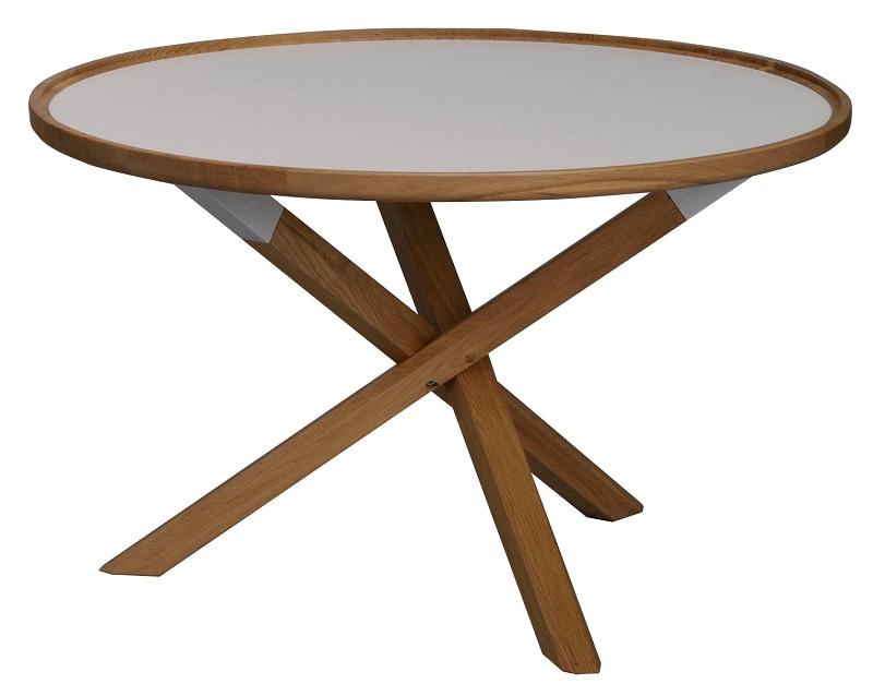 N/A – Minor sofabord - hvid og eg - ø81 på unoliving.com