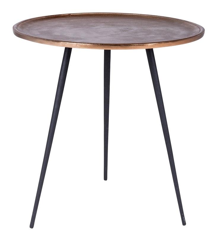 Canett – Needle sidebord ø50 - sort fra unoliving.com