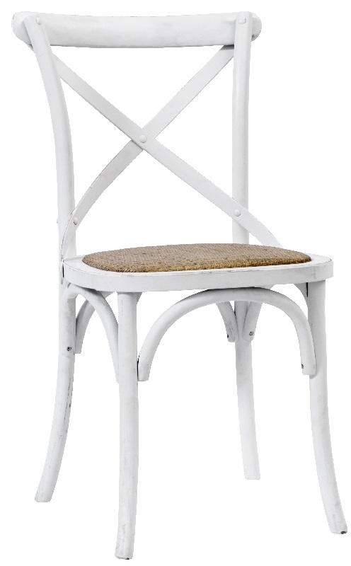 Nordal - spisebordsstol x - hvid med fletsæde fra Nordal på unoliving.com
