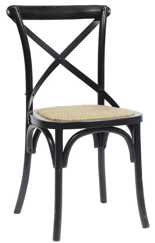 Nordal Nordal - spisebordsstol x - sort med fletsæde fra unoliving.com