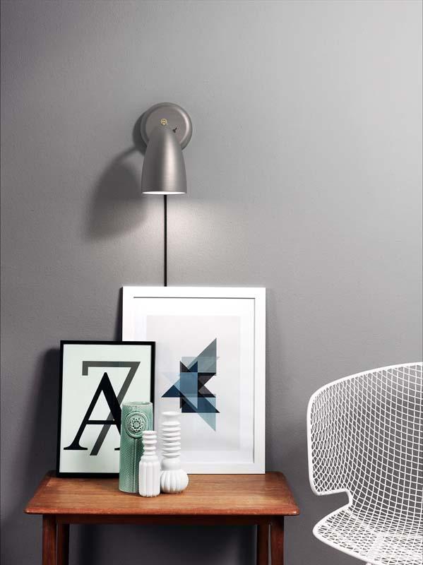 Design for the people – Nordlux dftp nexus 10 væglampe - stål fra unoliving.com