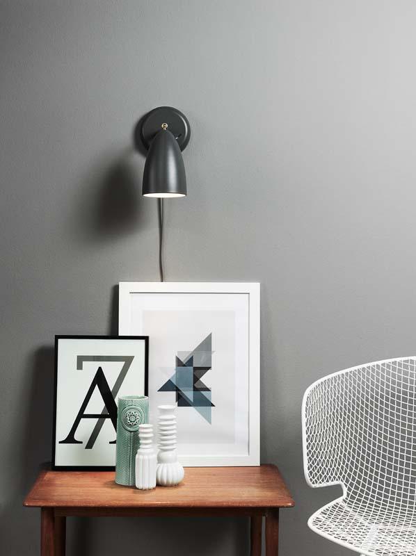 Design for the people – Nordlux dftp nexus 10 væglampe - grå på unoliving.com