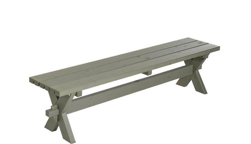 N/A – Plus - nostalgi plankebænk l177 cm - gråbrun på unoliving.com