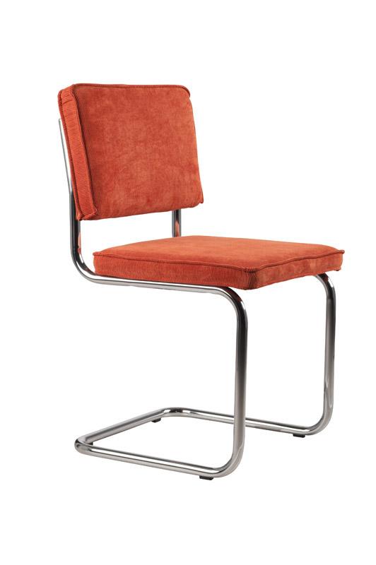 Zuiver – Zuiver - ridge spisebordsstol - orange fløjl fra unoliving.com