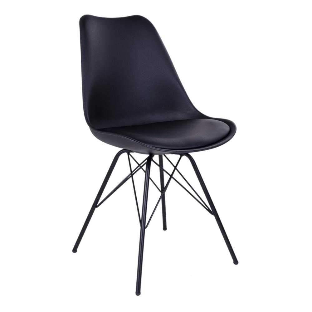 Oslo Spisebordsstol i sort med sorte ben
