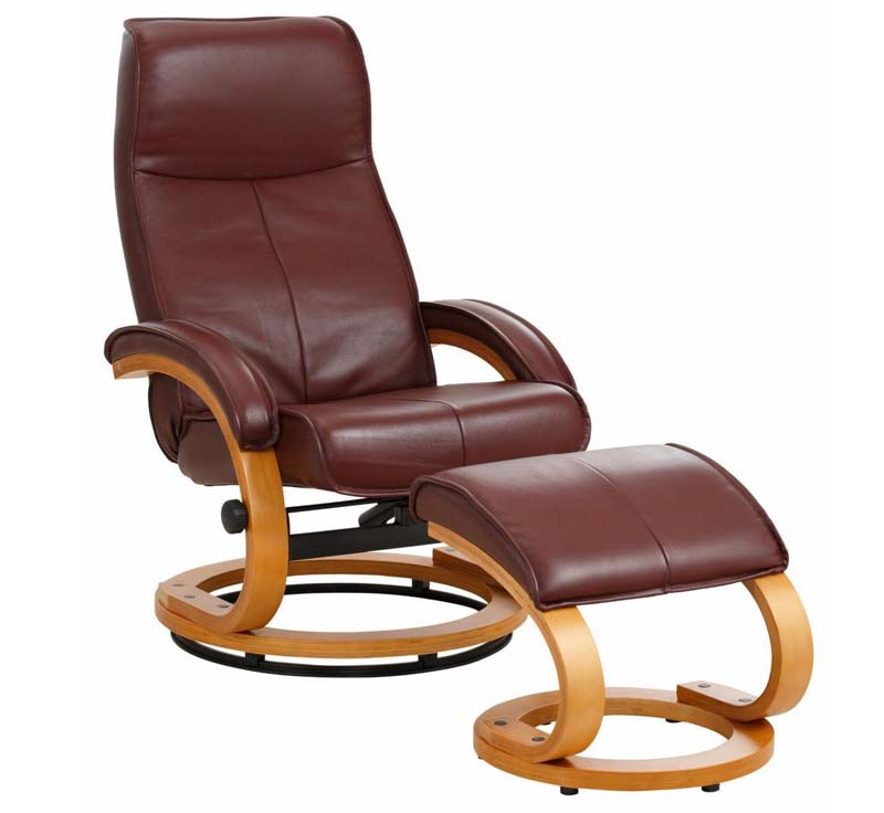 N/A – Paprika hvilestol med skammel brun læder fra unoliving.com