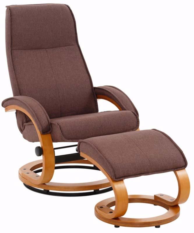 Paprika hvilestol med skammel brun stof fra N/A fra unoliving.com