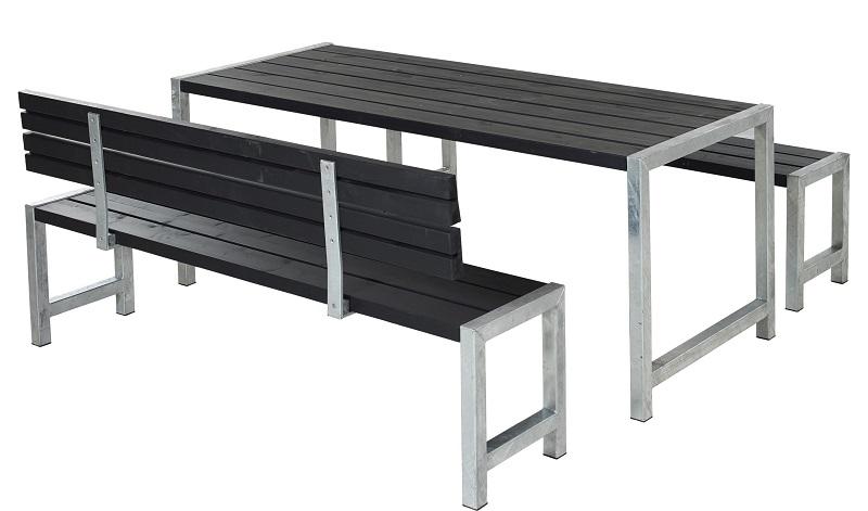 N/A – Plus - plankesæt til 6 pers. - sort fra unoliving.com