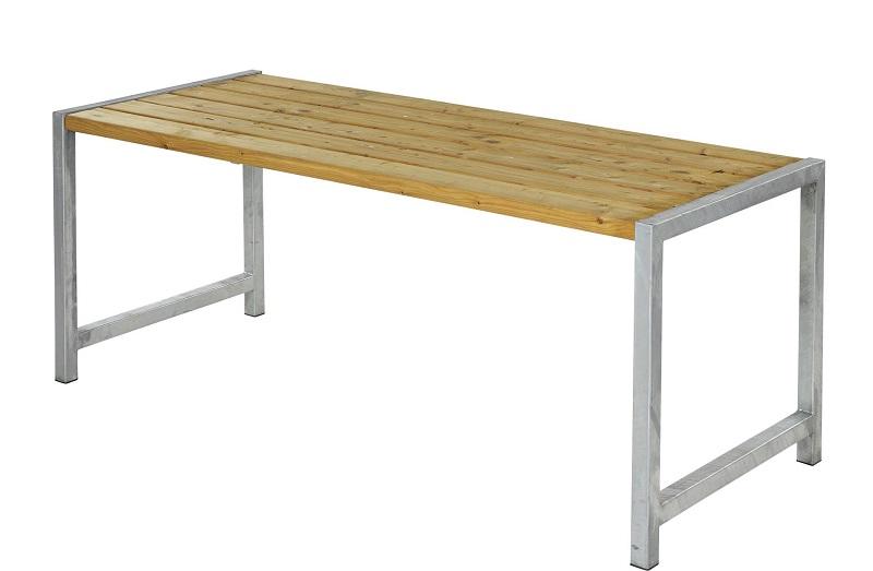 Plus - havebord med planker - oliebehandlet lærk fra N/A på unoliving.com