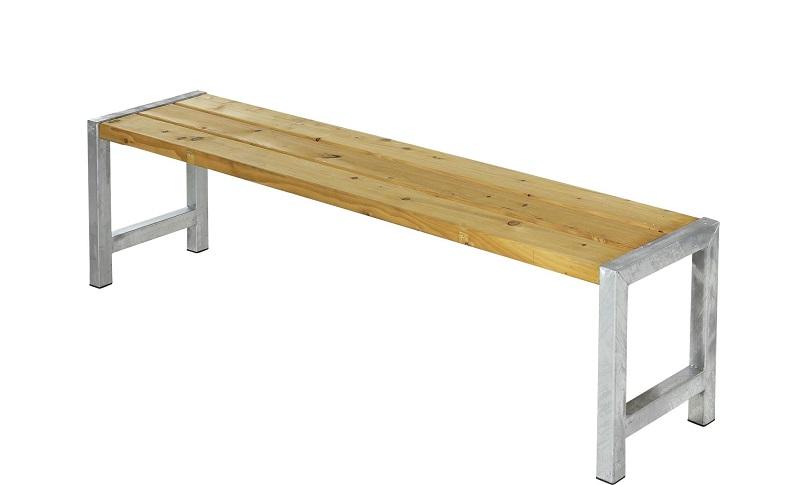 N/A Plus - havebænk med planker - oliebehandlet lærk på unoliving.com
