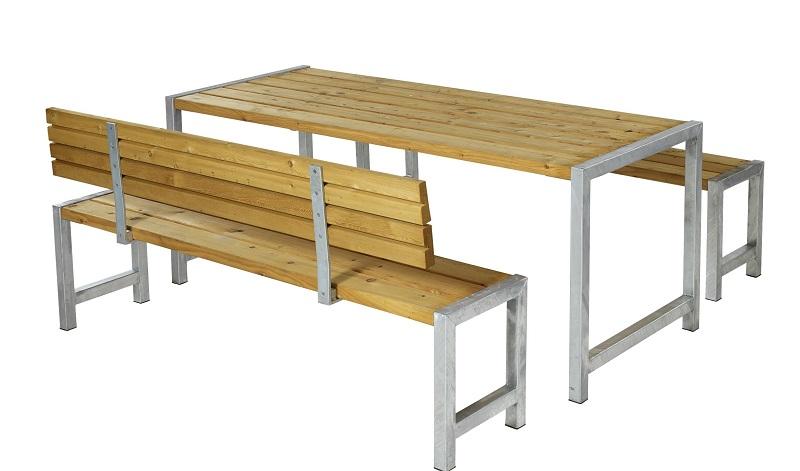 Plus - plankesæt til 6 pers. - oliebehandlet lærk fra N/A fra unoliving.com