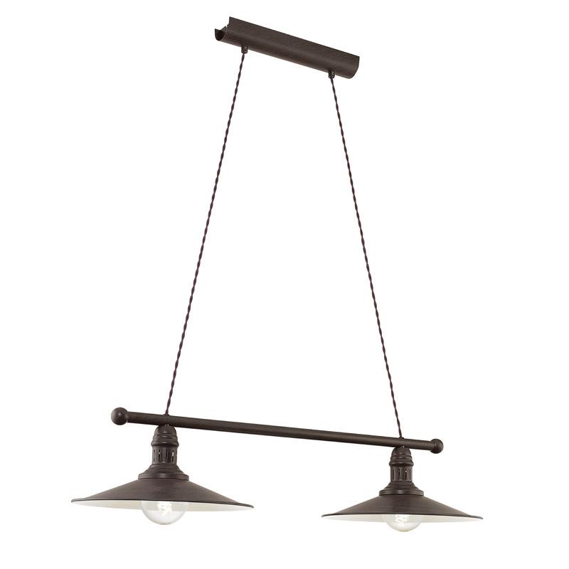 Stockbury loftlampe m. 2 lamper - antikbrun fra N/A på unoliving.com