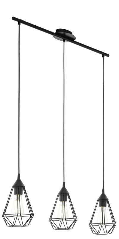 Tarbes loftlampe m. 3 metal pendel - sort fra N/A fra unoliving.com