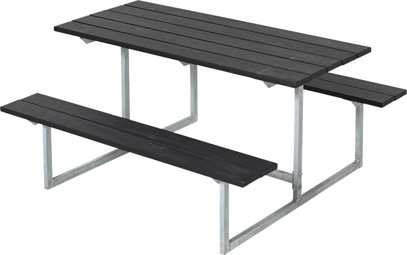 N/A – Plus - basic børne bord/bænkesæt - grundmalet sort på unoliving.com