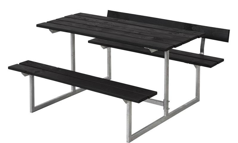 N/A – Plus - basic børne bord/bænkesæt 1 - grundmalet sort fra unoliving.com