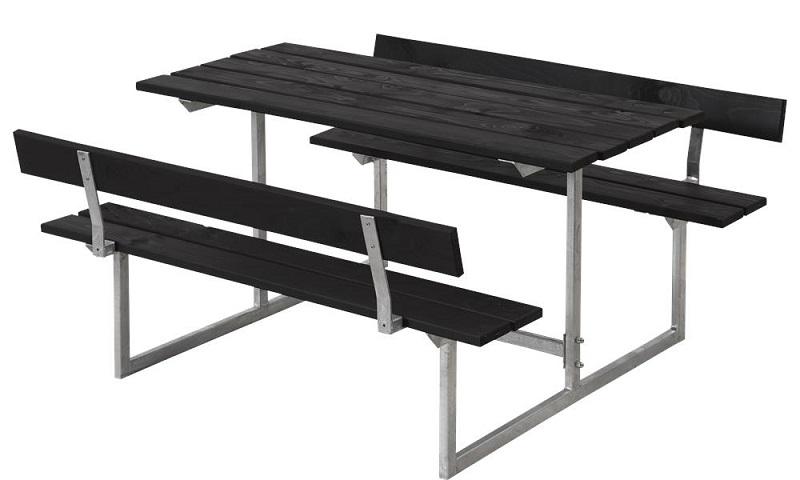Plus - basic børne bord/bænkesæt 2 - grundmalet sort fra N/A fra unoliving.com
