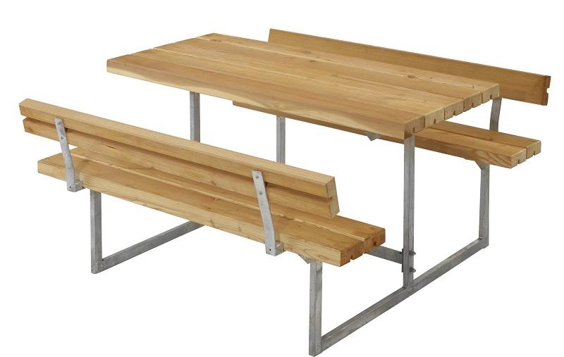 Plus - basic børne bord/bænkesæt 2 - oliebeh. lærk fra N/A fra unoliving.com