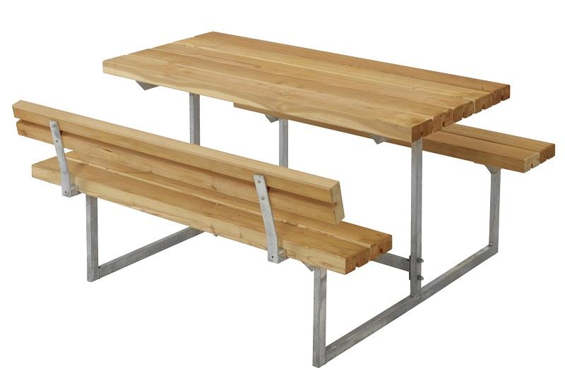 Plus - basic børne bord/bænkesæt 1 - oliebeh. lærk fra N/A fra unoliving.com