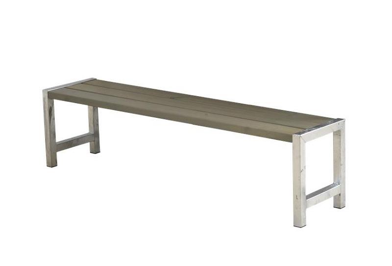 Plus - havebænk med planker - gråbrun fra N/A på unoliving.com