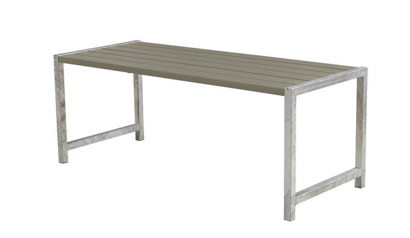 Plus - havebord med planker 186x77 - gråbrun fra N/A på unoliving.com