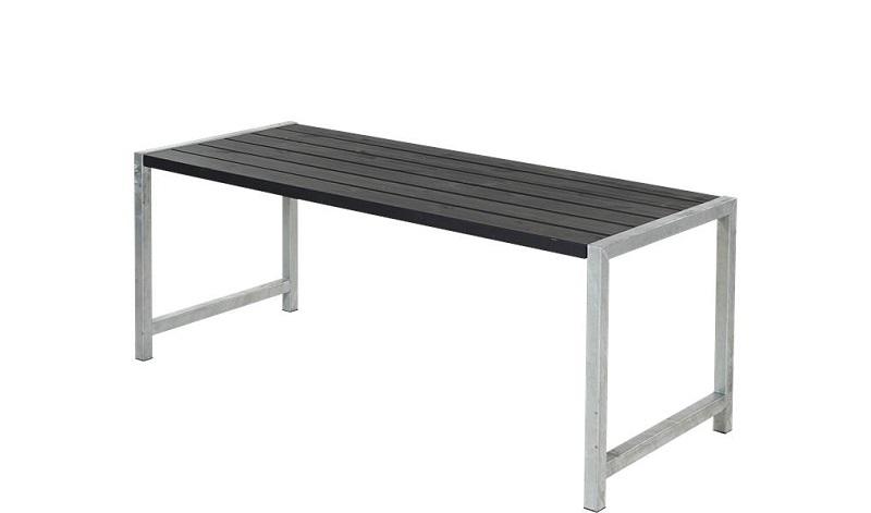 Plus - havebord med planker 186x77 - sort fra N/A på unoliving.com
