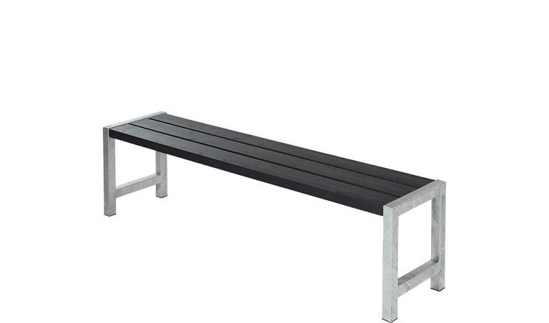 N/A – Plus - havebænk med planker - sort på unoliving.com