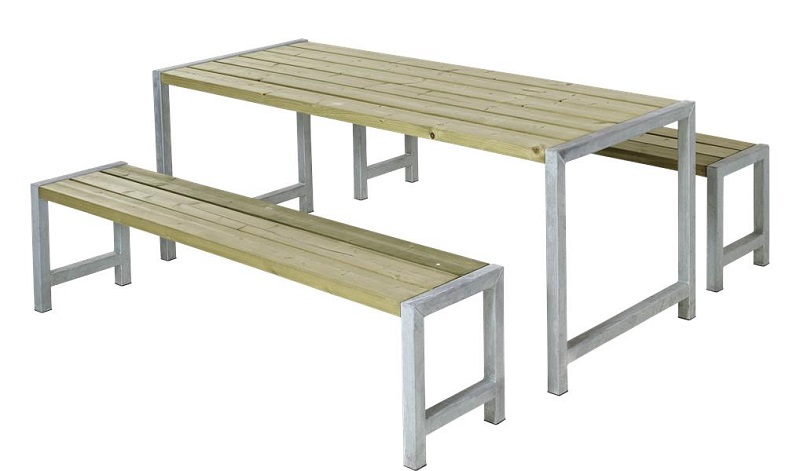 N/A Plus - plankesæt m/stel i varmgalvaniseret stål fra unoliving.com