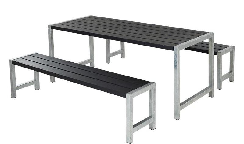 Plus - plankesæt m/stel i varmgalvaniseret stål - sort fra N/A på unoliving.com