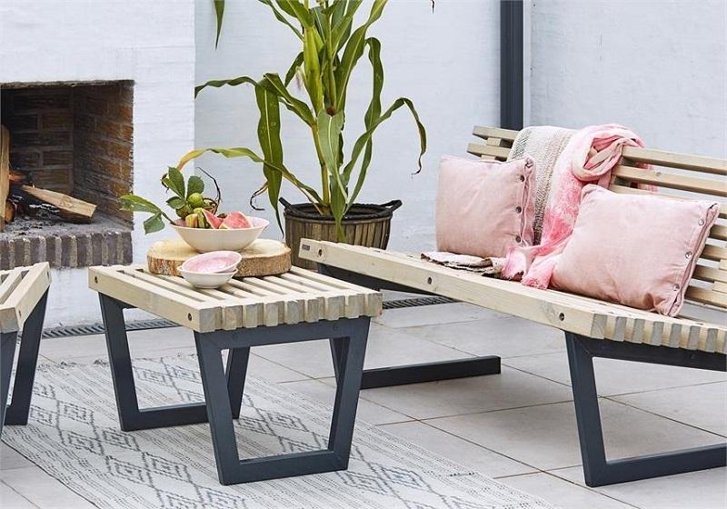 N/A – Plus - siesta loungesæt 2 - nye fsc trætraller på unoliving.com