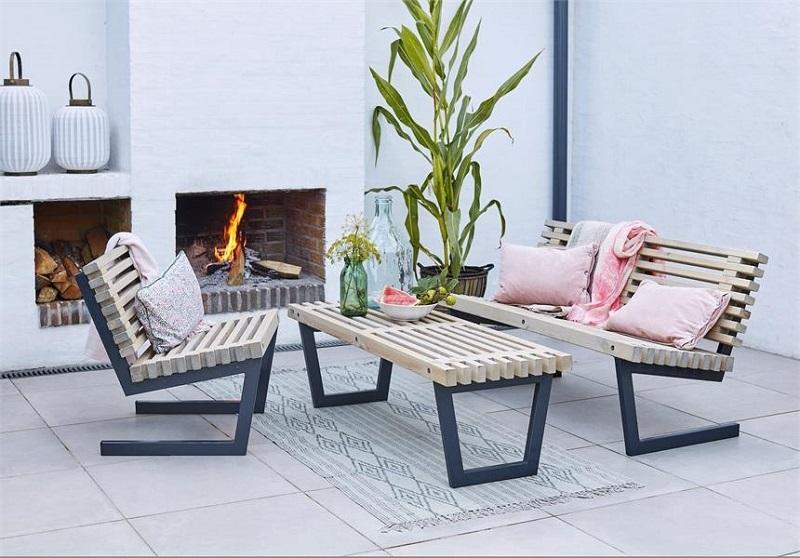 N/A Plus - siesta loungesæt 1 - nye fsc trætraller på unoliving.com