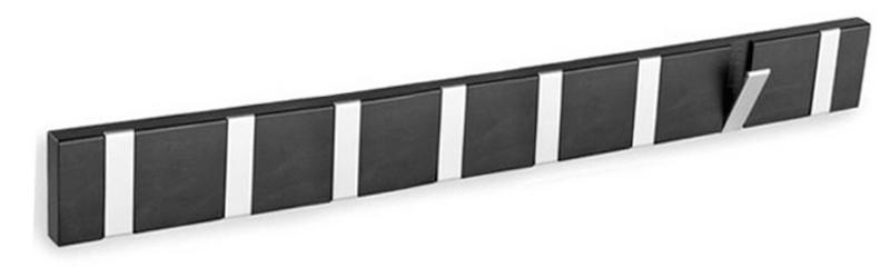 N/A – Belina knagerække m/8 knager - sort på unoliving.com