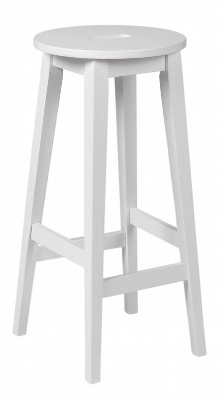 Belina barstol - hvid fra N/A på unoliving.com