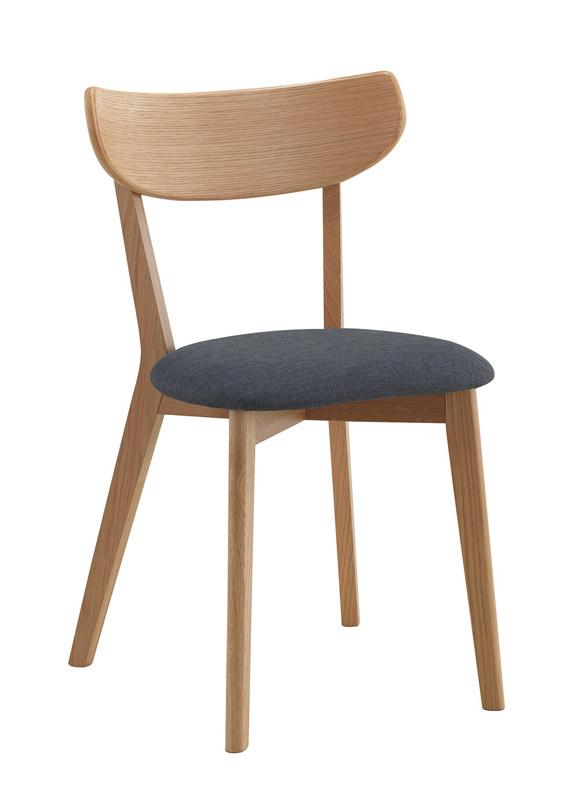 N/A – Eliana spisebordsstol i eg m. gråt stofsæde fra unoliving.com