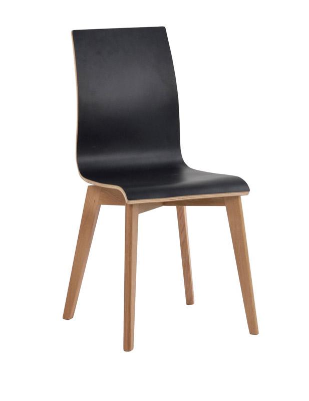 N/A Trend spisebordsstol - sort m. mat lakeret ben på unoliving.com