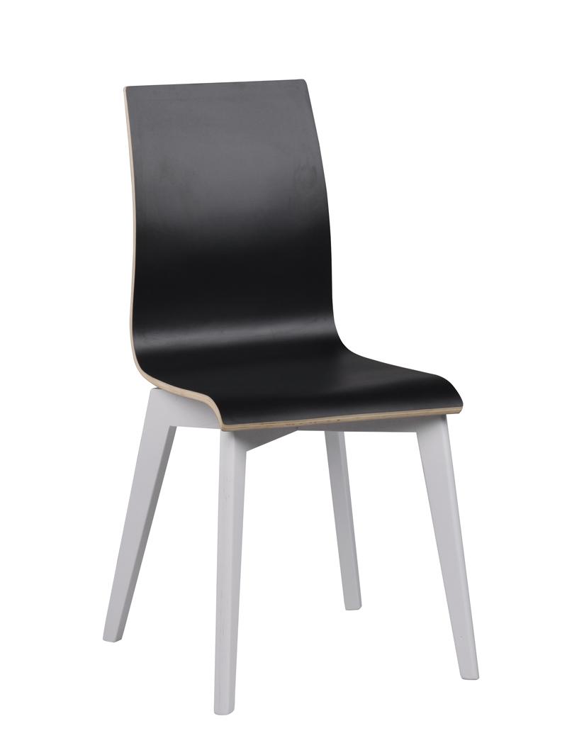 N/A – Trend spisebordsstol - sort m. hvide ben på unoliving.com