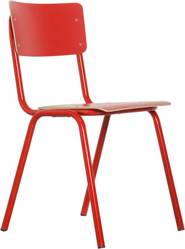 Zuiver - back to school stabelstol - rød fra Zuiver på unoliving.com