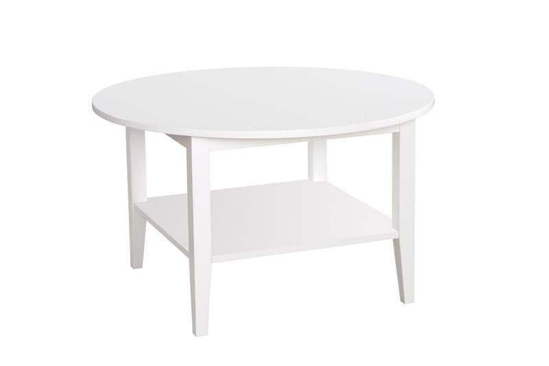 Ria sofabord - hvidmalet - ø90 fra N/A fra unoliving.com