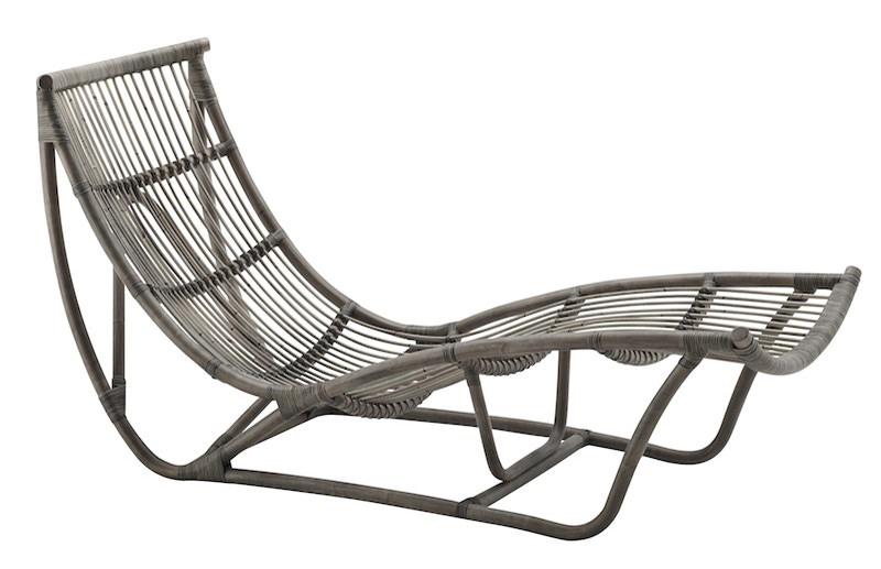 Sika-design Sika-design michelangelo chaiselong - grå rattan fra unoliving.com