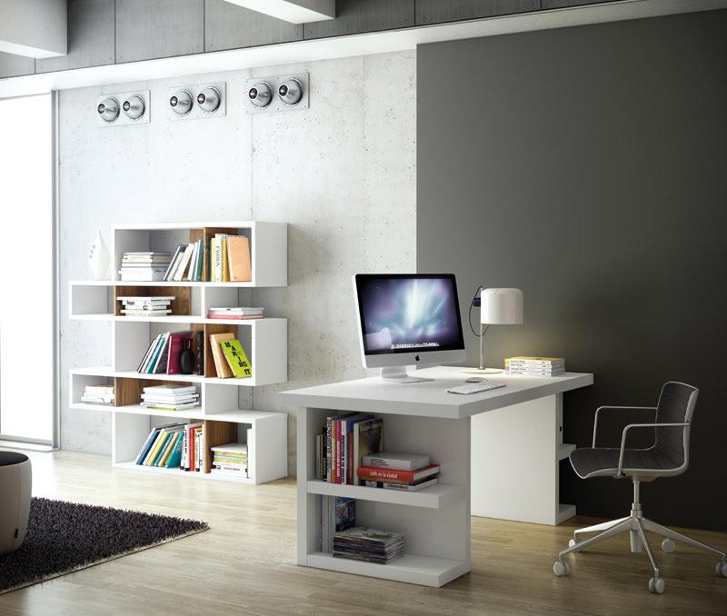 Temahome - multi skrivebord - skuffeben - hvid fra Temahome fra unoliving.com