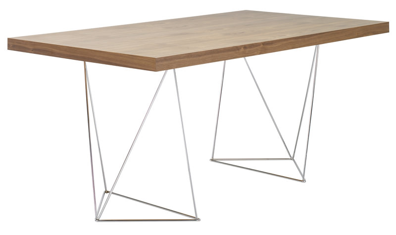 Temahome – Temahome - multi skrivebord - valnød 160 cm fra unoliving.com