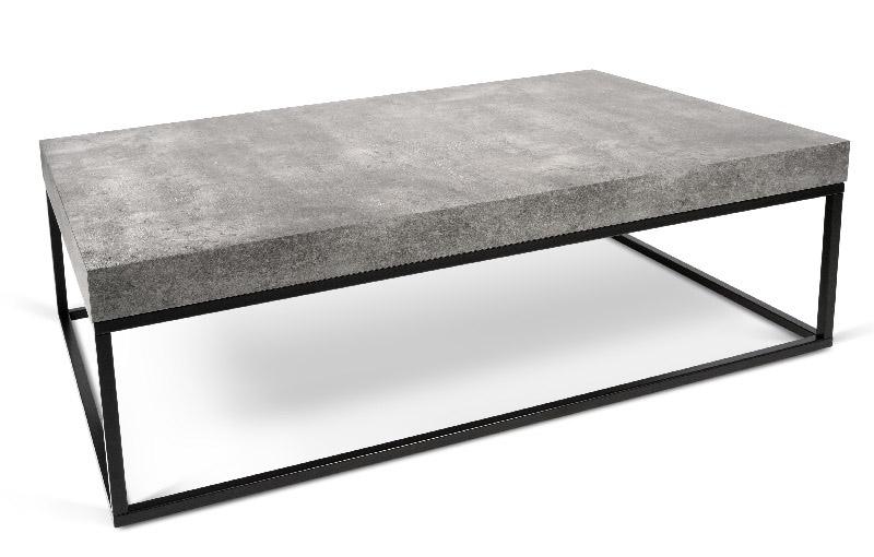 Temahome - petra sofabord - grå betonlook 120x75 fra Temahome på unoliving.com