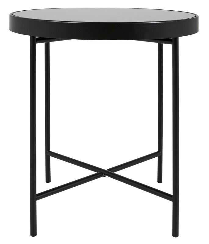 Canett jo sofabord - sort stål og glas - ø43 fra Canett fra unoliving.com