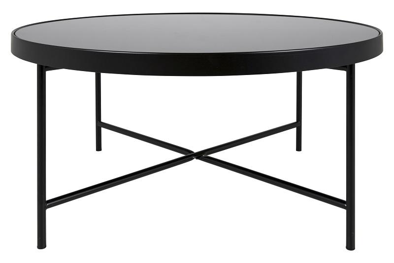 Canett jo sofabord - sort stål og glas - ø83 fra Canett fra unoliving.com