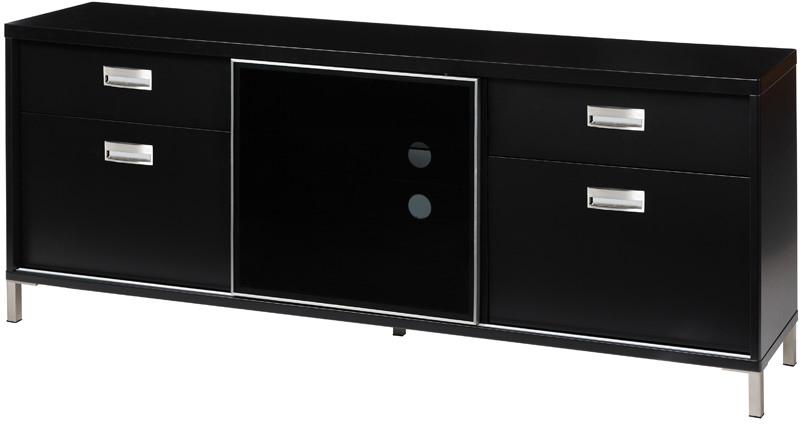 N/A – Future højt tv-bord - sort højglans på unoliving.com