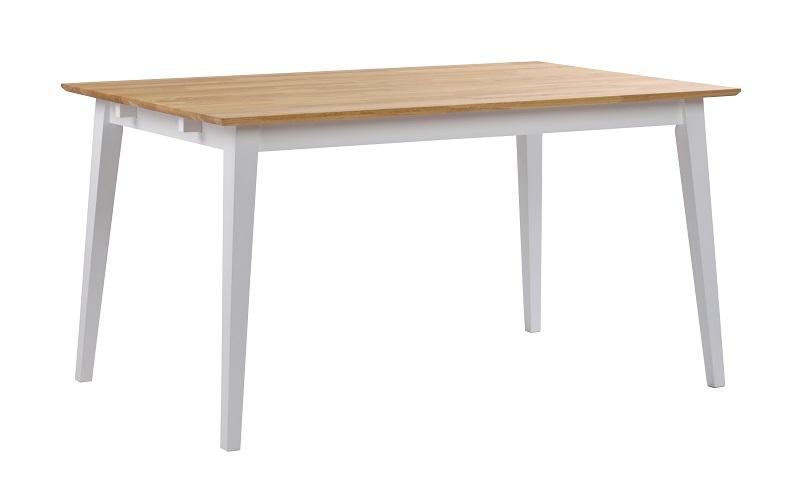 Gabriella spisebord - hvid og eg - 140x90 fra N/A på unoliving.com